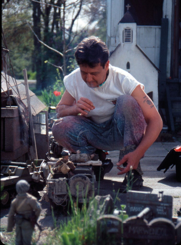 Mark working in Marwencol
