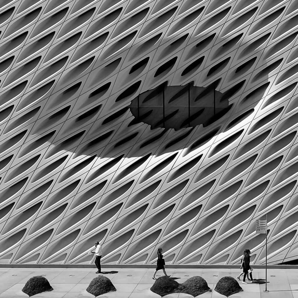 outside the Broad Building