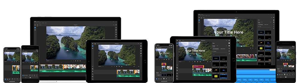 Adobe Premiere Rush CC on ipads and iphones