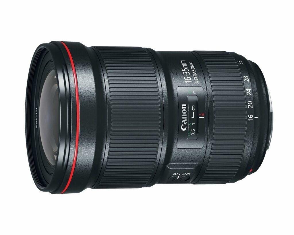Canon 16-35mm f/2.8L wide-angle zoom lens