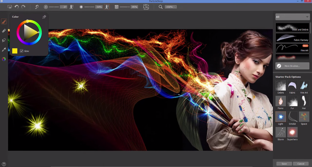 Corel ParticleShop for Photoshop adds creative Painter brushes