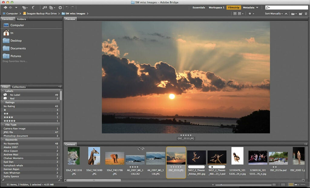 Software Workshop: How to organize your photos with Adobe Bridge