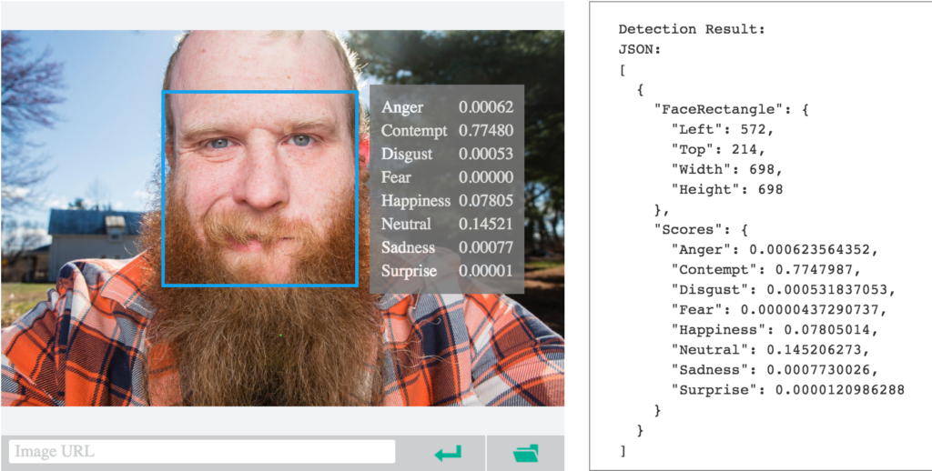 Microsoft Project Oxford Emotion Recognition Photo Software