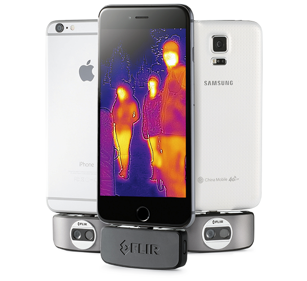Flir thermal camera for iPhone used for ghost hunting