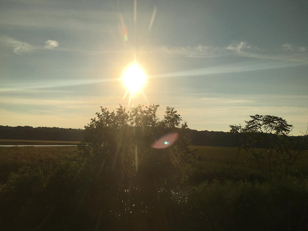 lens flare from sun