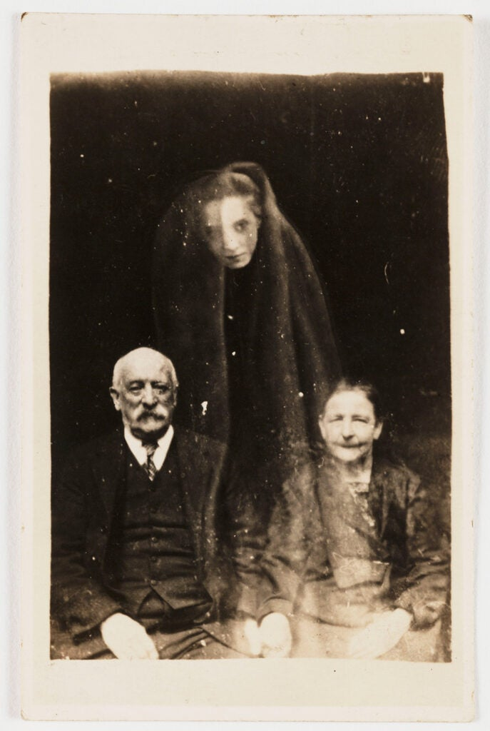 Elderly couple with a young female spirit