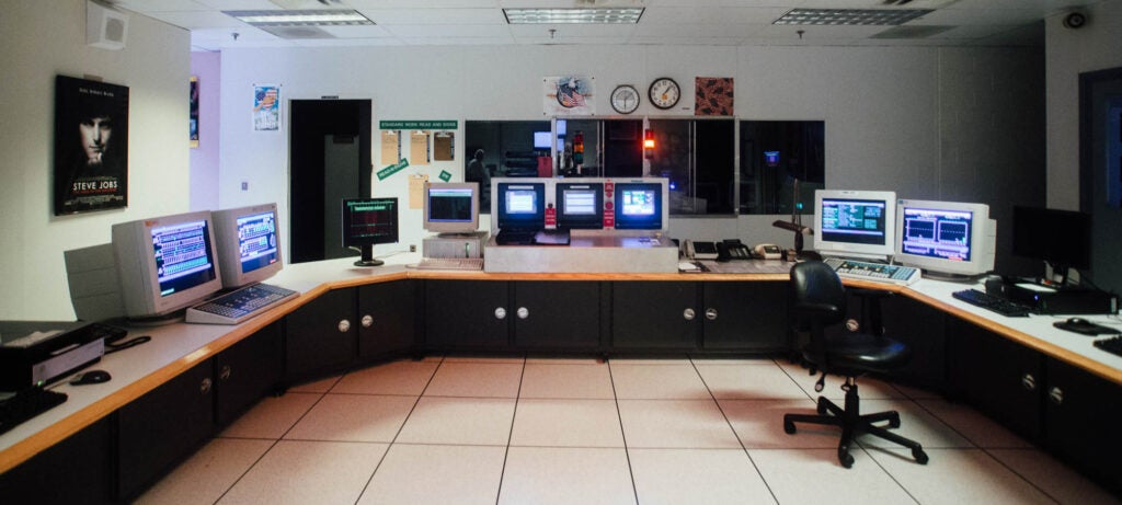 computers in master control room