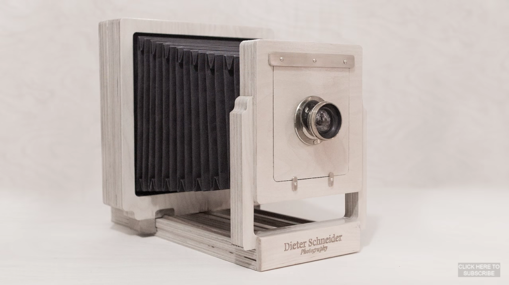 Handmade large format camera from plywood