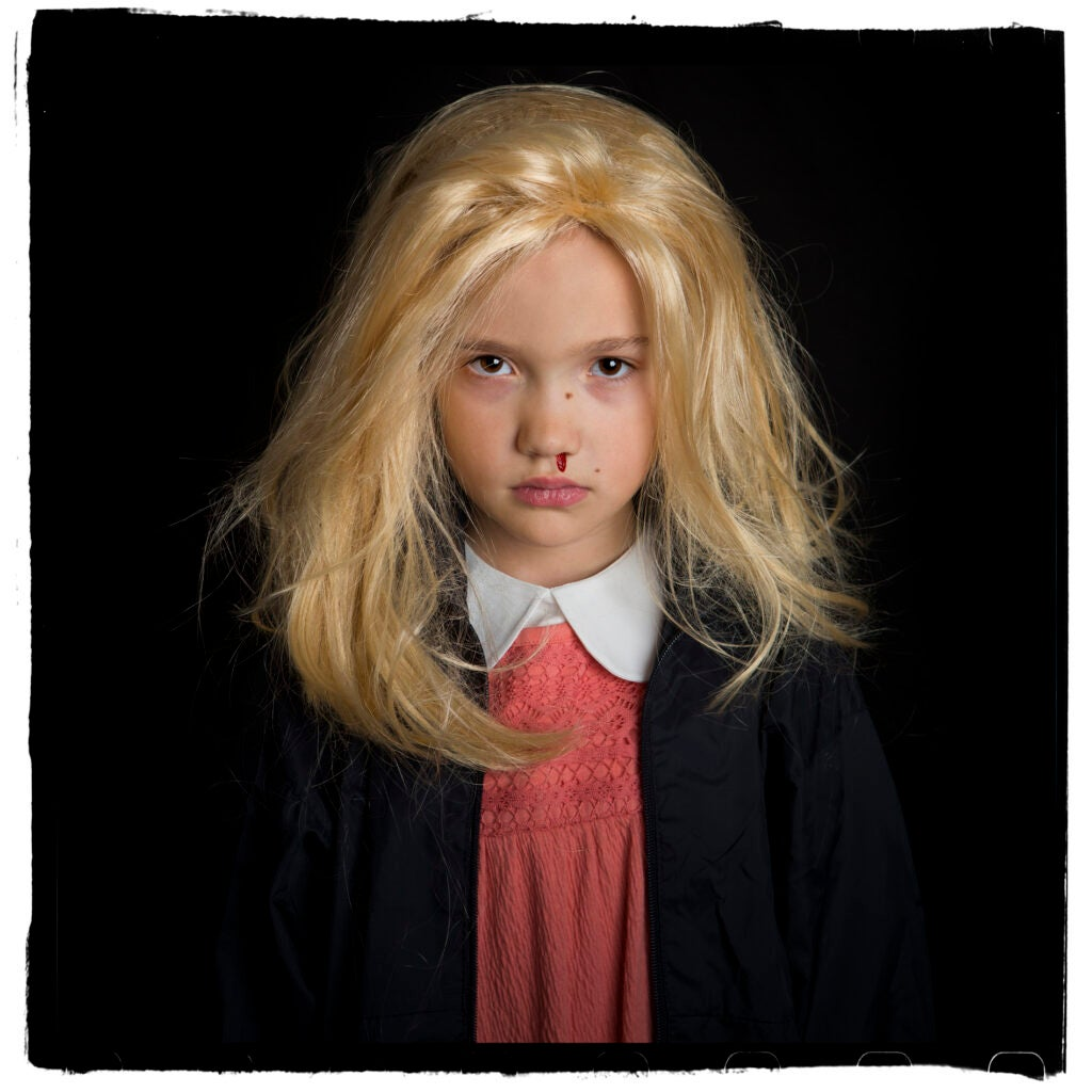 Portrait photos of trick-or-treaters