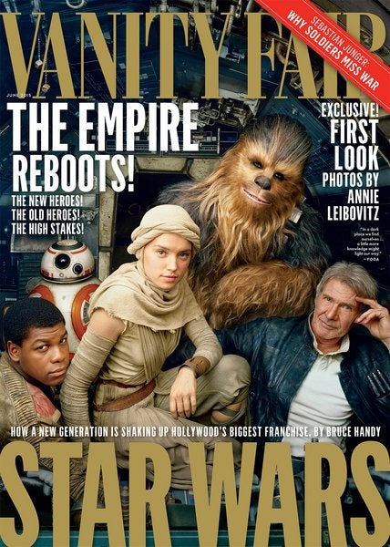 Annie Leibovitz shoots the cast of star wars for Vanity Fair
