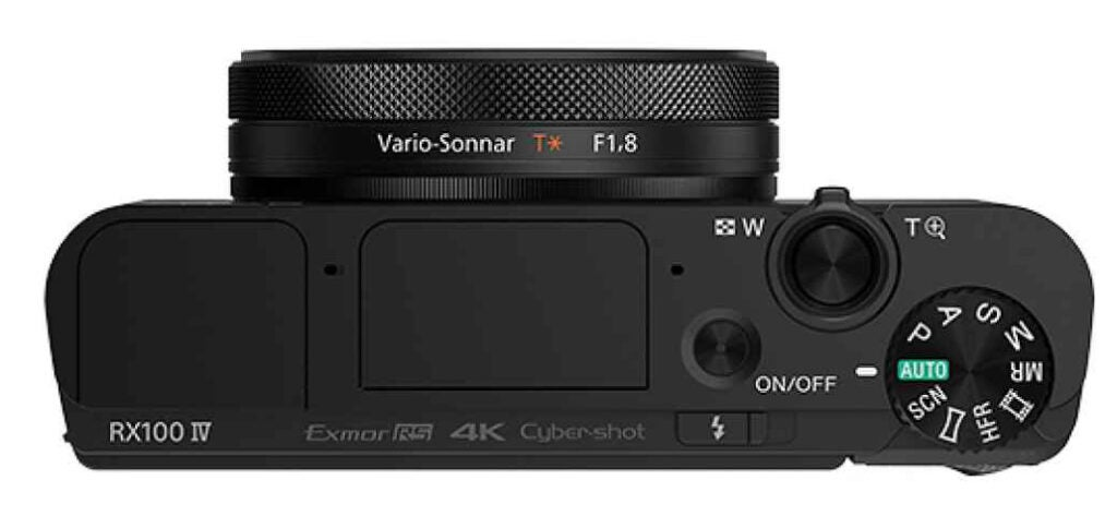 Sony Cyber-Shot RX100 IV top