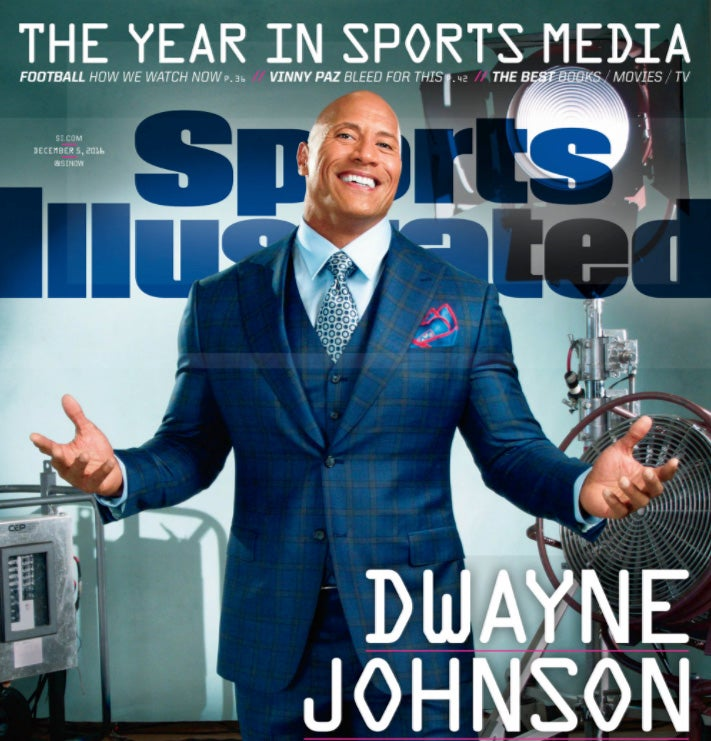 Sports Illustrated's Dwayne Johnson cover shot with a smartphone camera