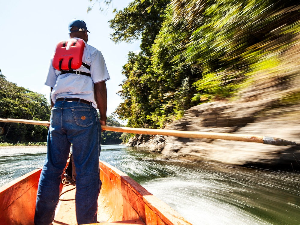 dugout canoe on Chagres River