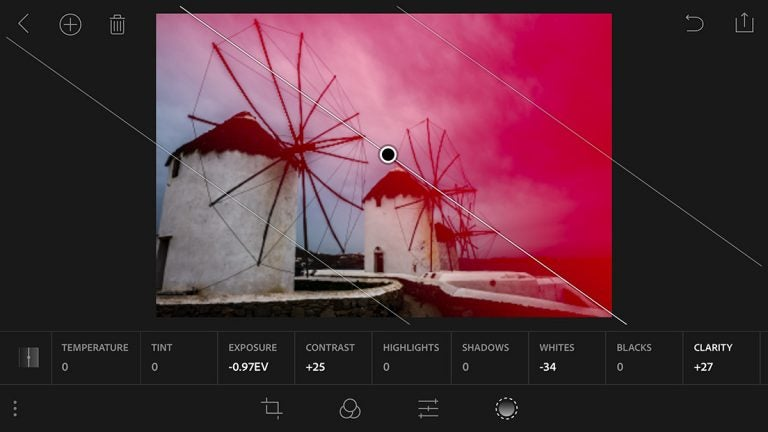 Lightroom Mobile iOS Radial and Linear Selections