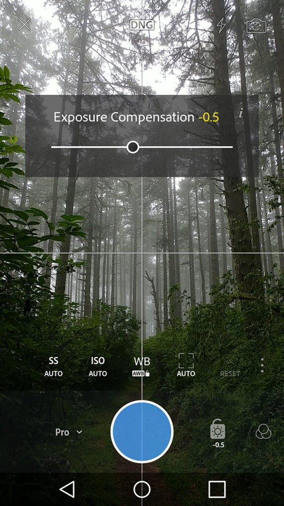 Lightroom Mobile Android Pro Camera module