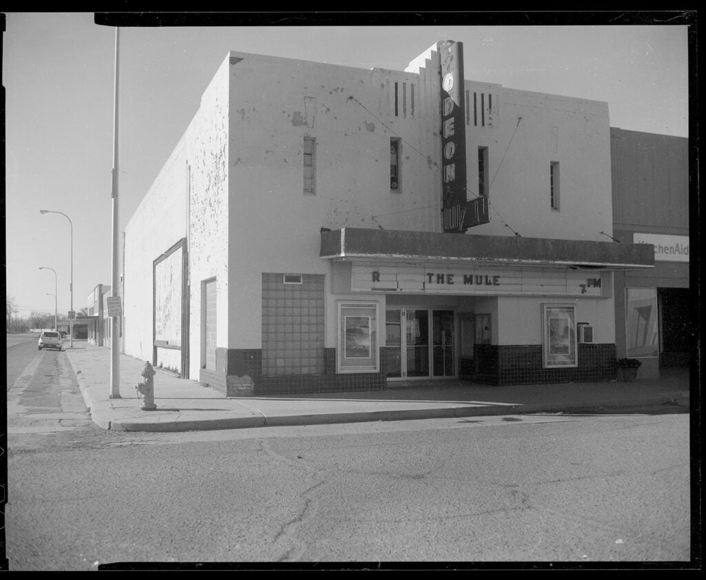 black and white theater