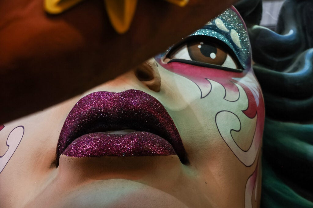painted woman mask