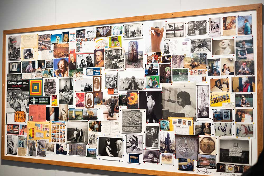 collage of photographs on a board