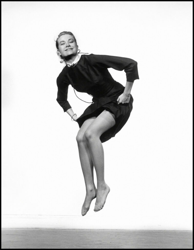 grace kelly in mid-air