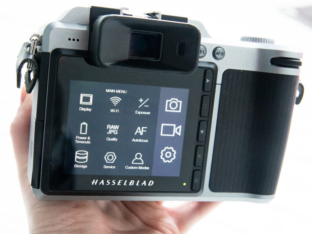 Hasselblad X1D Camera settings view