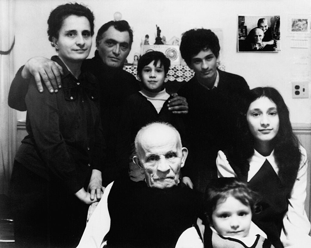Luigi with daughter, Francesca, her husband and their family, 1973. From the series