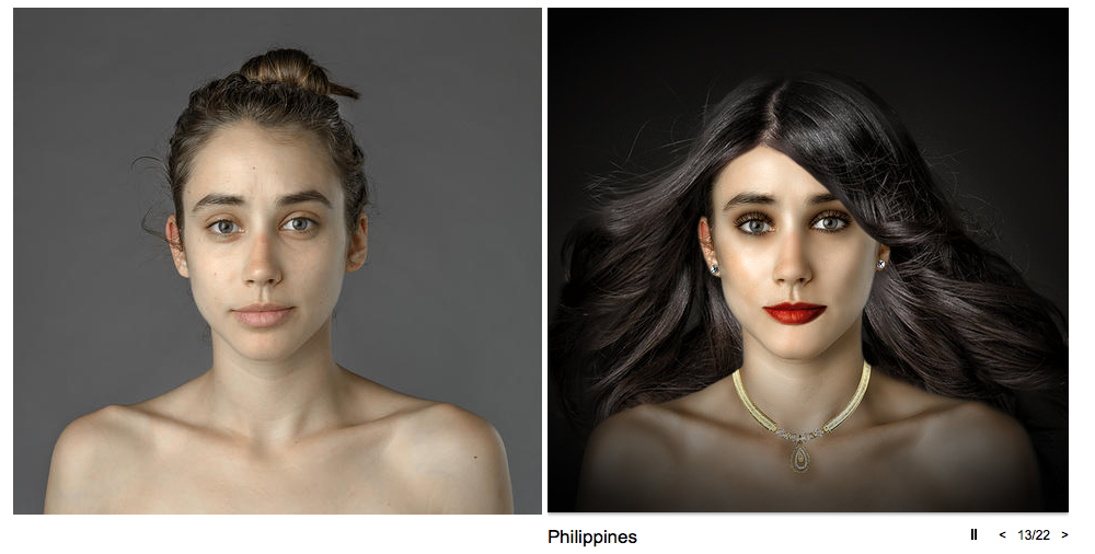 Esther Honig sent her portrait to retouchers across the globe to see what they w