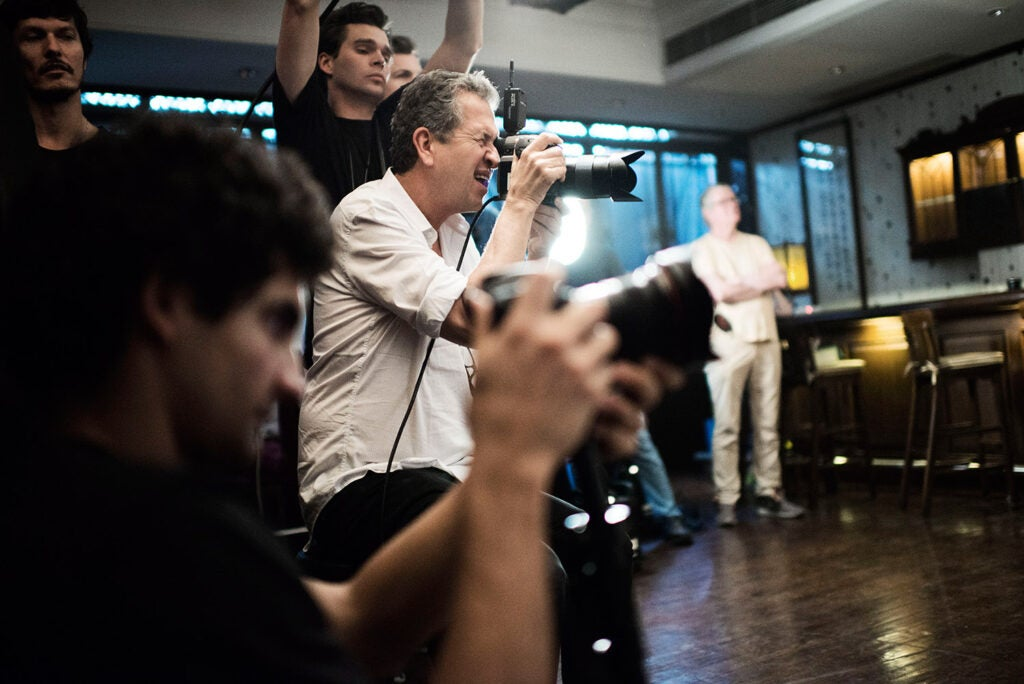 Behind the scenes with Mario Testino