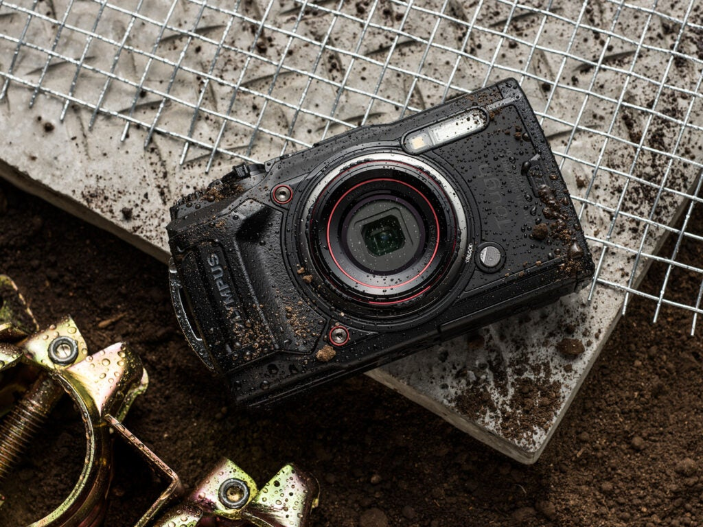 Olympus TG-6 covered in dirt