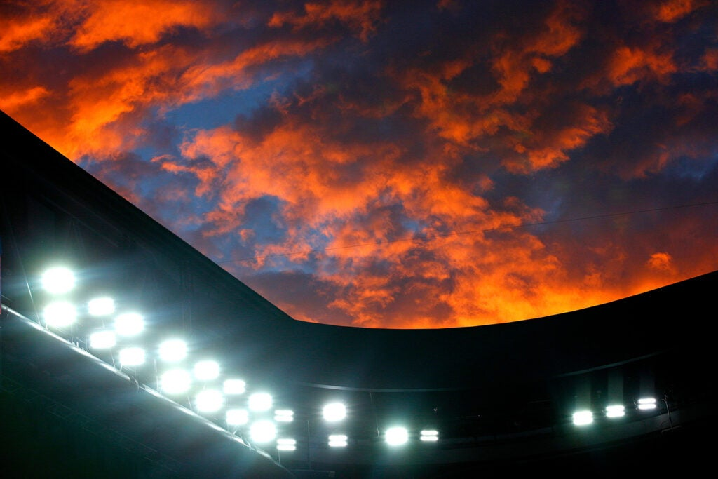 Sunset over Rod Laver Arena