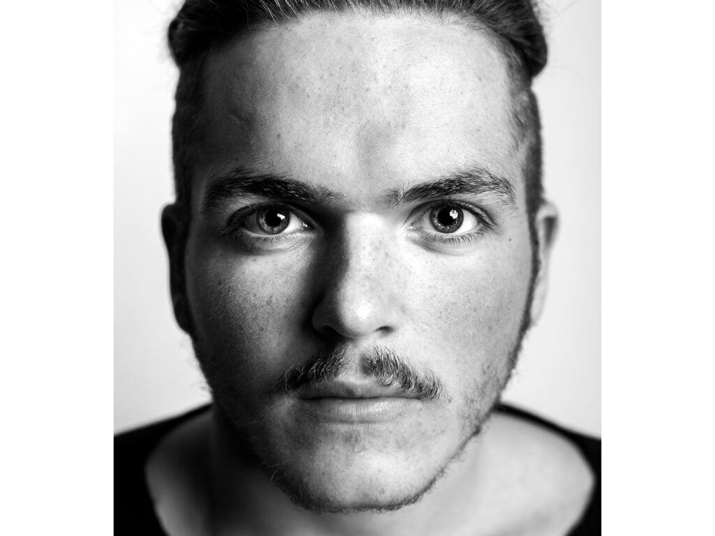 portrait of face with small moustache