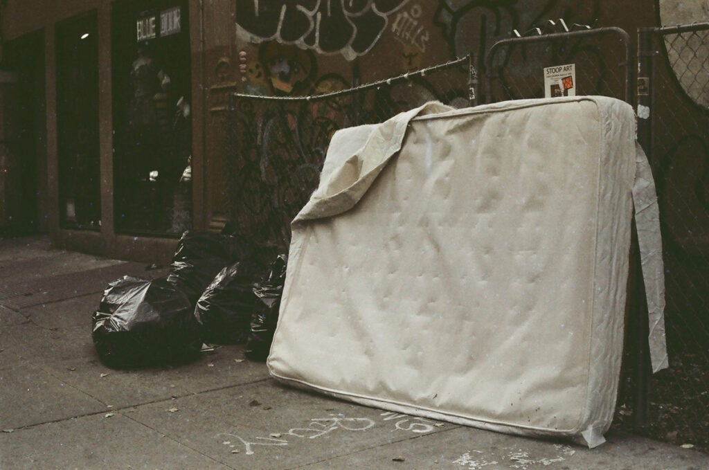A very old NYC feeling abandoned mattress