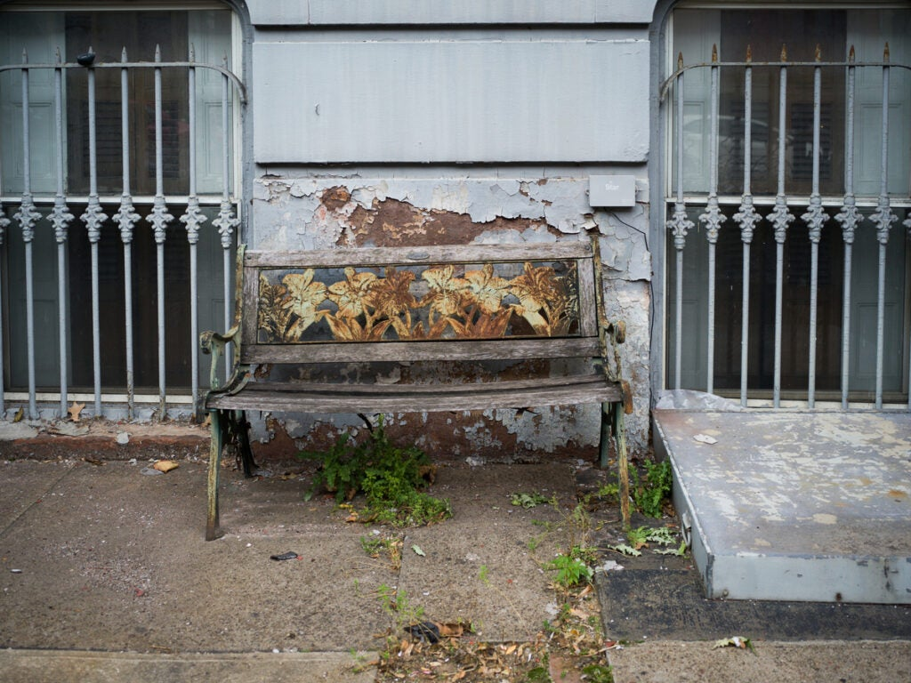 Rusted out bench