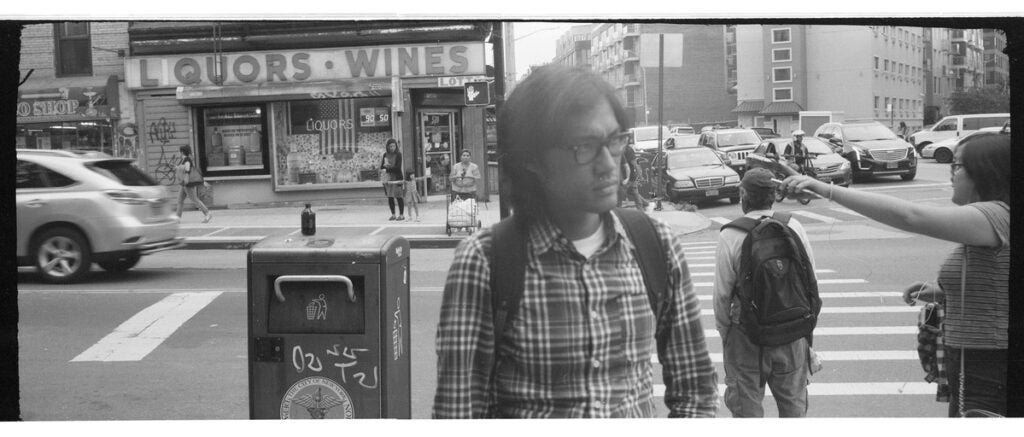 Man in glasses on New York City streets