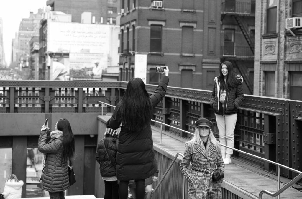 Tourists taking pictures