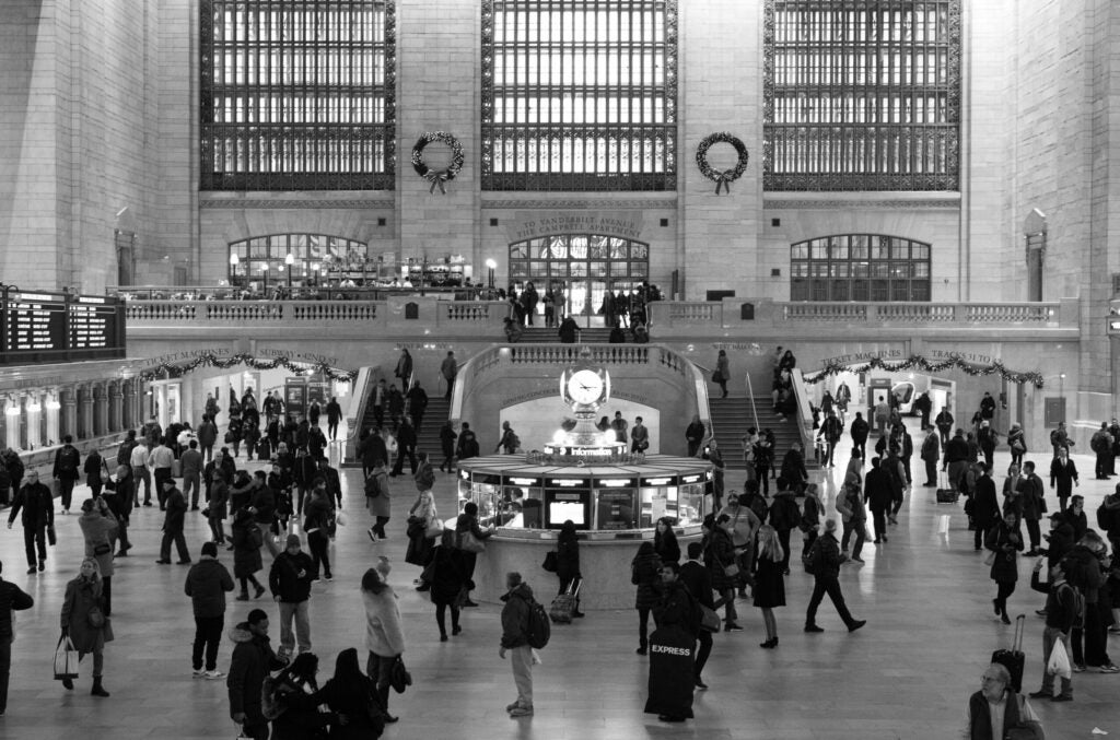 Grand Central Station right before rush hour