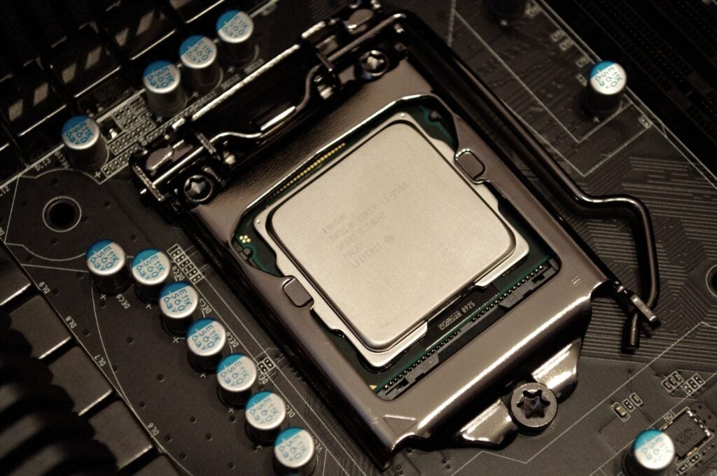 an Intel i5 central processing unit, or processor, or CPU