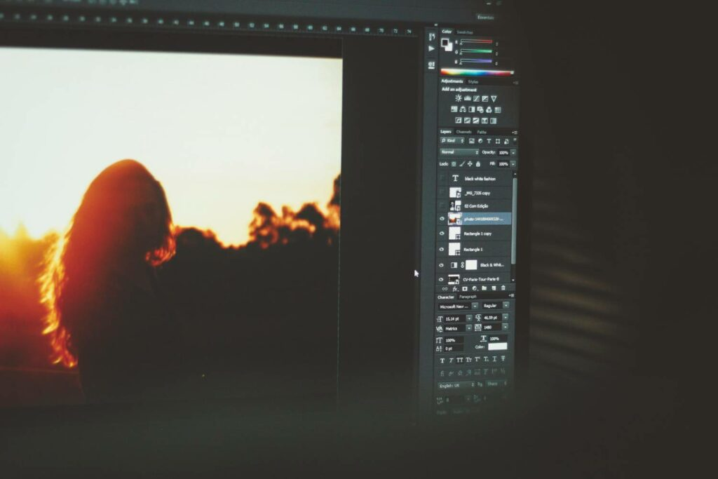 Photoshop on computer screen