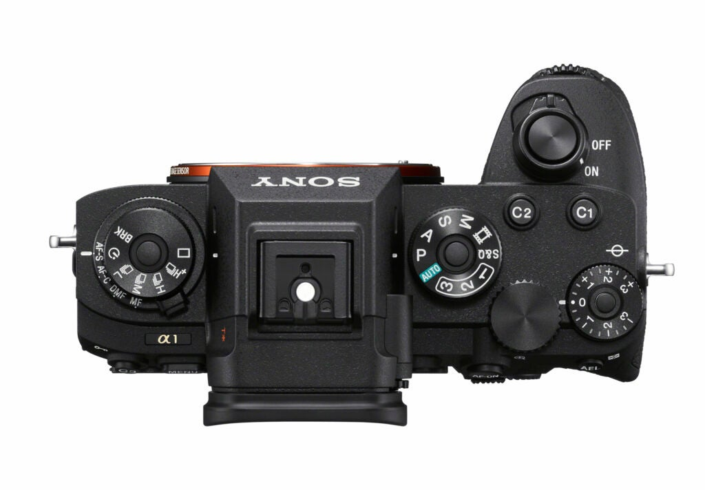 Sony Alpha 1 camera top view